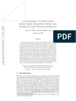 James G. Gilson- Thermodynamics of a Dust Universe Energy density, Temperature, Pressure and Entropy for Cosmic Microwave Background