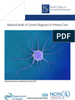 National Audit of Cancer Diagnosis in Primary-Care