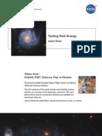 Adam Riess- Testing Dark Energy