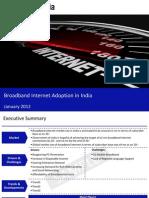 Market Research Report :Broadband Internet Adoption in India 2012