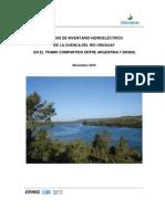 Inventario hidroelectrico del río Uruguay