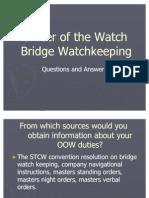 Bridge Watch Keeping Questions