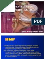 Hernia Nukleus Pulposus l5-s1