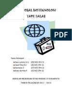 Proposal Bioteknologi Tape Kentang