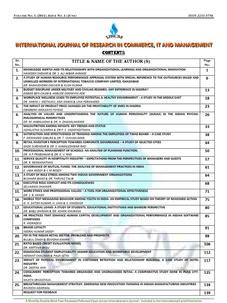 ijrcm-4-ivol-1_issue-1kmagt | Performance Appraisal | Knowledge ...