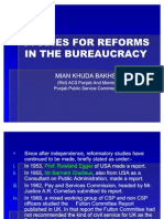 Study for Reforms in Bureucracy