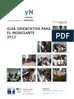 Guia Orientativa para el Ingresante  2012
