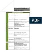 Programa de Actividades 9° Congreso CONPEHT
