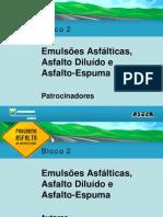 Aula08-Emulsao Asfaltica Asfalto Diluido Asfalto