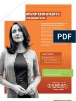 Kaplan University FastTrac Brochure