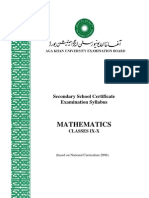 AKU-EB Mathematics SLOs 9 and 10