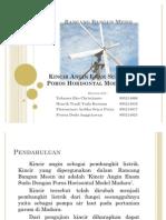 Presentasi Kincir Angin Enam Sudu Dengan Poros Horisontal Model Madura