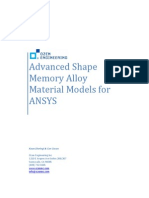 Advanced Shape Memory Alloy Material Models for ANSYS