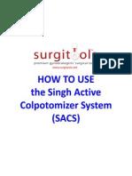 SACS How to Use