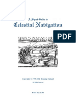 A Short Guide to Celestial Navigation