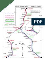 Mapa de la Línea de Alta Velocidad de Galicia