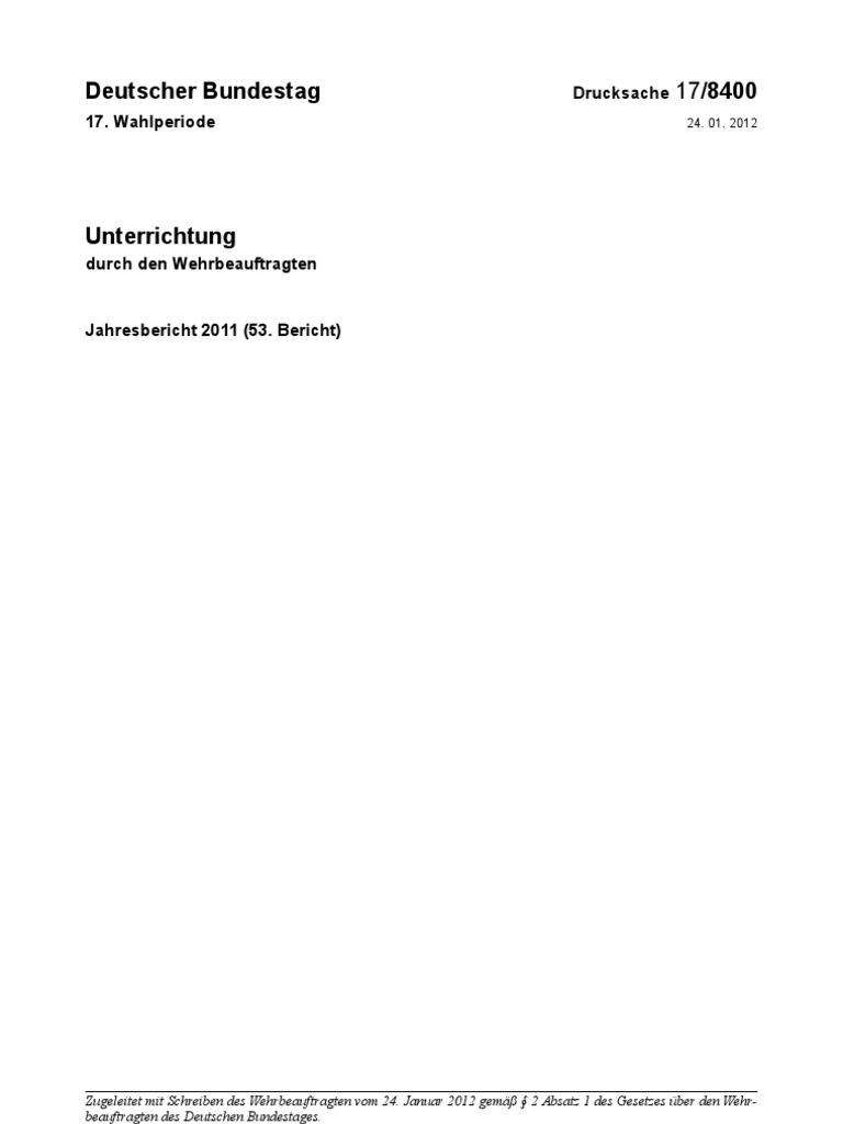 Jahresbericht des Wehrbeauftragten 2011