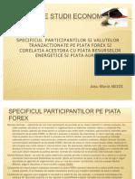 Forex :SPECIFICUL  PARTICIPANTILOR SI VALUTELOR TRANZACTIONATE PE PIATA FOREX SI CORELATIA ACESTORA CU PIATA RESURSELOR ENERGETICE SI PIATA AURULUI