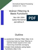 Wiener Filtering -Basis Functions