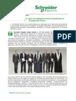 Schneider Electric Gana El Prestigioso Premio Zayed