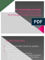2011 ECAR National Study