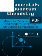 16301595 Fundamentals of Quantum Chemistry Molecular Spectroscopy and Modern
