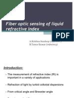 Fiber Optic Sensing of Liquid Refractive Index