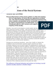 Transformations of the Social Systems