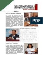 Bancada Nacionalista Gana Perú - Boletin Nº 12