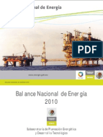 Balance Nacional de Energía 2010_2