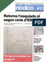 El diari El Periódico de 3r d'ESO