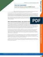 Fiber Characterization Test Equipment
