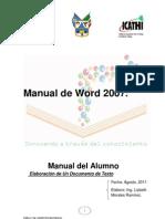 Manual de Word 2007 Agosto2011