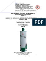 Análisis de Objeto Técnico El Boiler