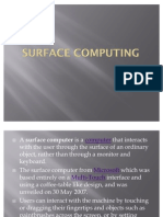 Surface Computing Ppt
