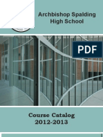 Course Catalog 2012-2013