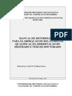 Manual Metodologia Unive Metodist SP Pos Comunicacao
