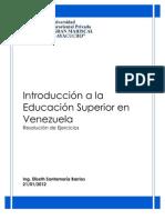 Introducción a la Educación Superior en Venezuela