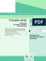 20120118-France-Assemblée nationale-Livres indisponibles du XXème siècle-Compte rendu de la commission culture