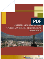 Procesos metodológicos de ordenamiento territorial.  Guatemala.