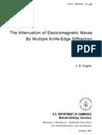 Multiple Knife-Edge Diffraction
