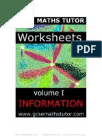 E Book -  Worksheets Vol. 1 - Information