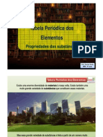 PP - Tabela Periódica dos Elementos e Propriedades dos materiais