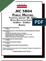 ANC 5B04 Meeting 1-26-12