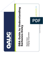 DBA Guide to Understanding Sarbanes Oxley Presentation