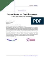 Historia Natural del Homo Schientiphicus o carta de un primate a los antropólogos  Alfonso Galindo Lucas