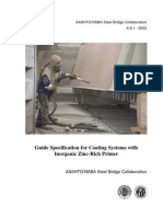 Guide Specification for Coating Systems With Inorganic Zinc-Rich Prime