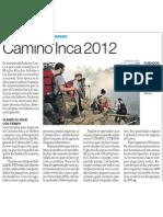 Camino Inca en Machu Picchu cierra todo Febrero 2012