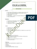 Lista de la compra para Fase de Ataque en la dieta Dukan