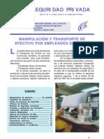 Boletin seguridad privada. 4. Manipulacion y transporte de efectivo por empleados de banca.